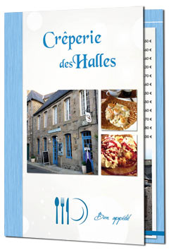 Menu brochure 8 pages Creperie par Reflet d'Expression