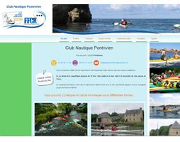 club nautique pontrivien site internet par RefletdExpression.fr
