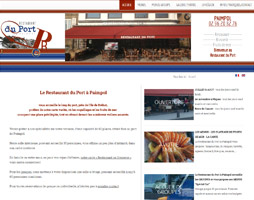 Restaurant du Port Paimpol Site Internet